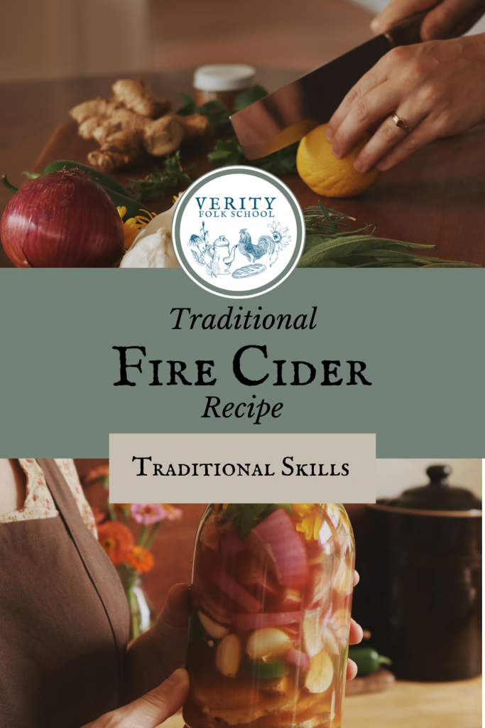 Fire cider herbal remedy pin